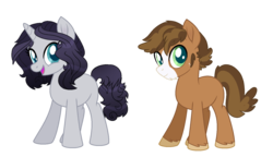 Size: 1676x965 | Tagged: artist:spectrumnightyt, base used, earth pony, female, magical lesbian spawn, male, mare, oc, oc only, offspring, parent:applejack, parent:octavia melody, parent:rarity, parents:raritavia, parents:troublejack, parent:troubleshoes clyde, pony, safe, stallion, unicorn