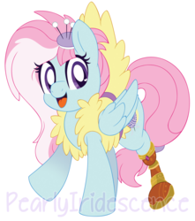 Size: 1204x1359 | Tagged: adorable face, amputee, artist:pearlyiridescence, clothes, cute, daaaaaaaaaaaw, female, fluffy, fufflebetes, heart eyes, kerfuffle, looking at you, mare, pegasus, pony, prosthetic leg, prosthetic limb, prosthetics, rainbow roadtrip, safe, solo, spoiler:rainbow roadtrip, vest, watermark, wingding eyes