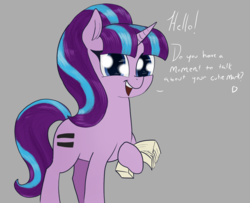 Size: 1600x1300 | Tagged: safe, artist:t72b, derpibooru exclusive, starlight glimmer, pony, unicorn, atg 2019, cute, equal cutie mark, female, hoof hold, looking at you, mare, newbie artist training grounds, pamphlet, s5 starlight, solo, talking to viewer, this will end in communism
