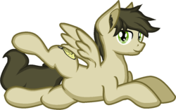 Size: 993x623 | Tagged: artist:zeka10000, ear fluff, looking at you, lying down, male, oc, oc only, oc:soulful radiance, pegasus, pony, request, requested art, safe, shading, simple background, solo, spreading, stallion, transparent background, wings