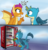 Size: 1924x2000 | Tagged: safe, artist:rainbow eevee, gallus, smolder, dragon, griffon, atg 2019, beak, cash, cloud, cloudy, coca-cola, comic, cute, dialogue, dollar, dollar sign, dragoness, drink, duo, female, gallabetes, gallus is not amused, irl, male, money, newbie artist training grounds, open mouth, photo, pointing, regular show, simple background, smolderbetes, soda, spread wings, talking, vending machine, wings