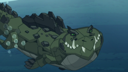 Size: 1920x1080 | Tagged: safe, screencap, queen chrysalis, cragadile, crocodile, frenemies (episode), spoiler:s09e08, solo, swimming, underwater