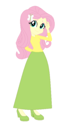Size: 354x600   Tagged: safe, artist:starman1999, fluttershy, equestria girls, base used, clothes, female, long skirt, skirt, solo