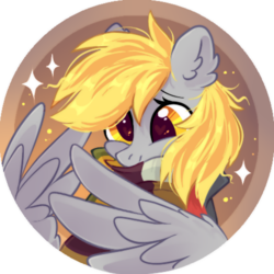 Size: 472x472 | Tagged: safe, artist:mirtash, derpy hooves, pegasus, pony, clothes, rcf community, scarf, solo