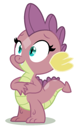 Size: 580x978 | Tagged: artist:thatonecrazyartist18, baby, baby dragon, colored, color edit, cute, dragon, dragoness, edit, female, oc, oc only, offspring, parent:smolder, parent:spike, parents:spolder, recolor, safe, simple background, solo, white background