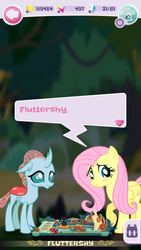 Size: 720x1280 | Tagged: fluttershy, game screencap, ocellus, pocket ponies, safe
