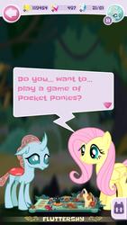 Size: 720x1280 | Tagged: safe, fluttershy, ocellus, game screencap, pocket ponies