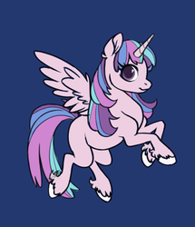 Size: 343x399 | Tagged: safe, artist:mewstrawberrydelight, oc, oc:princess morning glory, alicorn, pony, base used, blue background, female, filly, magical lesbian spawn, offspring, parent:princess celestia, parent:twilight sparkle, parents:twilestia, simple background, solo