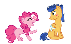 Size: 1829x1151 | Tagged: safe, artist:neighsay, flash sentry, pinkie pie, pony, female, male, missing cutie mark, pinkiesentry, shipping, straight