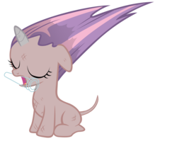 Size: 8800x7000   Tagged: safe, artist:tardifice, edit, edited edit, editor:slayerbvc, vector edit, sweetie belle, pony, unicorn, absurd resolution, bad mane day, bald, blank flank, burnt, dirty, eyes closed, female, filly, floppy ears, furless, furless edit, mouth hold, nude edit, nudity, scorched, shaved, shaved tail, simple background, solo, sweetie bald, sweetie fail, transparent background, vector, vial