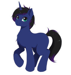 Size: 1408x1488 | Tagged: artist:evomanaphy, chest fluff, male, missing cutie mark, oc, oc:dusk raven, pony, ponysona, safe, simple background, sketch, solo, stallion, transparent background, two-tone mane, unicorn