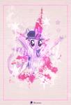 Size: 1206x1765 | Tagged: safe, artist:illumnious, artist:timeimpact, twilight sparkle, alicorn, cutie mark, poster, text, twilight sparkle (alicorn), watercolor painting