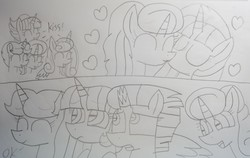 Size: 4745x2992 | Tagged: safe, artist:徐詩珮, fizzlepop berrytwist, glitter drops, princess flurry heart, spring rain, tempest shadow, twilight sparkle, oc, oc:betty pop, oc:fire shadow, oc:spring legrt, oc:storm lightning, oc:vesty sparkle, alicorn, pony, unicorn, aunt and niece, bettyvesty, broken horn, cousins, female, flurry the shipper, glittershadow, half-siblings, horn, lesbian, lineart, magical lesbian spawn, mare, mother and daughter, next generation, oc x oc, offspring, offspring shipping, older, older twilight, parent:flash sentry, parent:glitter drops, parent:spring rain, parent:stygian, parent:tempest shadow, parent:twilight sparkle, parents:flashlight, parents:glittershadow, parents:springdrops, parents:springshadow, parents:springshadowdrops, parents:tempgian, polyamory, shipper on deck, shipping, siblings, sisters, springdrops, springshadow, springshadowdrops, traditional art, twilight sparkle (alicorn)