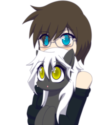 Size: 1694x1993 | Tagged: artist:zacatron94, female, glasses, human, mare, oc, oc:blank novel, oc:captain white, oc x oc, pegasus, pony, safe, shipping, simple background, straight, transparent background, whitenovel
