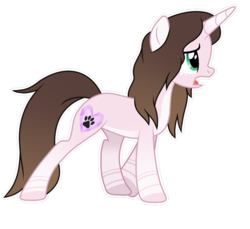 Size: 935x855 | Tagged: safe, artist:cindydreamlight, oc, oc:cindy, pony, unicorn, bow, female, mare, simple background, solo, tail bow, transparent background, white outline