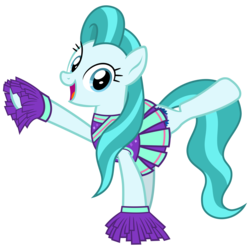 Size: 3200x3200   Tagged: safe, artist:cheezedoodle96, lighthoof, earth pony, pony, 2 4 6 greaaat, .svg available, active stretch, cheering, cheerleader, cheerleader outfit, clothes, cute, female, looking at you, mare, pleated skirt, pom pom, shirt, simple background, skirt, smiling, solo, stretching, svg, transparent background, vector