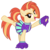 Size: 3200x3200   Tagged: safe, artist:cheezedoodle96, shimmy shake, earth pony, pony, 2 4 6 greaaat, spoiler:s09e15, .svg available, active stretch, cheering, cheerleader, cheerleader outfit, clothes, cute, female, looking at you, mare, pleated skirt, pom pom, ponytail, shirt, simple background, skirt, smiling, solo, stretching, svg, transparent background, vector