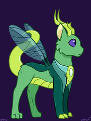 Size: 1152x1533 | Tagged: artist:quincydragon, hybrid, magical gay spawn, oc, oc:zanith, offspring, parent:capper, parents:capperax, parent:thorax, safe, solo