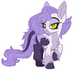 Size: 1238x1179 | Tagged: artist:midnightamber, base used, female, fluffy, lip bite, long ears, long tail, mare, oc, oc:jia, paws, pony, safe, solo, wings