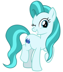 Size: 2800x3200   Tagged: safe, artist:cheezedoodle96, lighthoof, earth pony, pony, 2 4 6 greaaat, .svg available, female, looking at you, mare, one eye closed, raised hoof, simple background, smiling, solo, svg, transparent background, vector, wink