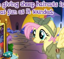 Size: 354x328 | Tagged: safe, fluttershy, pony, the cutie re-mark, alternate timeline, apocalypse fluttershy, crystal war timeline, gameloft, meme, wow! glimmer