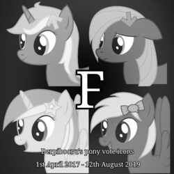 Size: 720x720 | Tagged: artist:joey, black and white, derpibooru, derpibooru ponified, edit, f, grayscale, meta, monochrome, oc, oc:comment, oc:downvote, oc:favourite, oc only, oc:upvote, ponified, safe, text