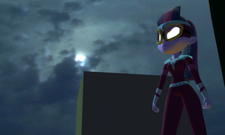 Size: 5120x3072 | Tagged: 3d, artist:n3onh100, batman, equestria girls, glowing eyes, gmod, mask, masked matter-horn, night, power ponies, safe, sci-twi, twilight sparkle