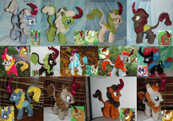 Size: 3499x2450 | Tagged: all kirins, artist:crazyditty, autumn afternoon, autumn blaze, calm kirin, cinder glow, collected kirin, composed kirin, cool kirin, fall flower, fern flare, forest fall, gameloft, kirin, maple brown, nirik, plushie, pumpkin smoke, rain shine, safe, screencap, sparkling brook, spring glow, summer flare, winter flame