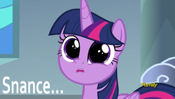 Size: 1920x1080 | Tagged: alicorn, discovery family logo, edit, edited screencap, pony, safe, screencap, snance, sparkle's seven, spoiler:s09e04, twilight sparkle, twilight sparkle (alicorn), youtube poop