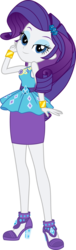 Size: 5000x16445 | Tagged: absurd res, artist:sugar-loop, artist:twilirity, clothes, equestria girls, equestria girls series, female, geode of shielding, human, lidded eyes, looking at you, magical geodes, pose, rarity, safe, simple background, smiling, solo, transparent background, vector