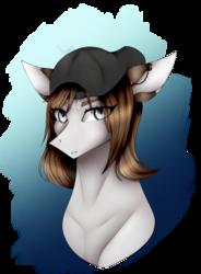 Size: 1200x1632 | Tagged: safe, artist:dawndream2003, oc, pony, backwards ballcap, baseball cap, bust, cap, female, hat, mare, portrait, solo