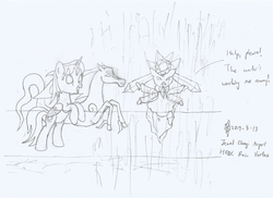 Size: 2178x1584 | Tagged: alicorn, alicorn oc, artist:parclytaxel, bipedal, changi airport, diancie, female, flailing, hsbc rain vortex, it's super effective, jewel, jewel changi airport, lineart, looking up, mare, monochrome, oc, oc only, oc:parcly taxel, oc:spindle, pencil drawing, pokémon, pony, pun, safe, singapore, smiling, traditional art, visual pun, waterfall, windigo, windigo oc