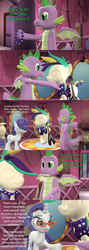Size: 1920x5400 | Tagged: 3d, artist:papadragon69, carousel boutique, choose your own adventure, clothes, collar, comic, comic:spike's cyosa, dragon, glasses rarity, older, older spike, outfit, rarity, safe, source filmmaker, spike, spiked collar, teenager, teenage spike, winged spike
