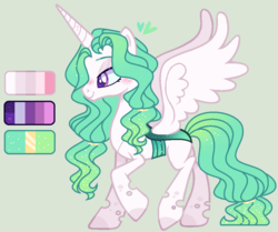 Size: 1018x850 | Tagged: artist:nocturnal-moonlight, changepony, female, hybrid, magical lesbian spawn, oc, oc:lumina, offspring, parent:princess celestia, parent:queen chrysalis, parents:chryslestia, reference sheet, safe, simple background, solo