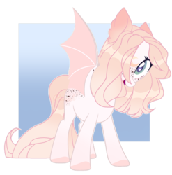 Size: 1280x1295 | Tagged: safe, artist:sweetie-drawz, oc, bat pony, pony, base used, female, mare, solo