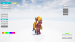 Size: 1920x1080 | Tagged: safe, artist:nebulafactory, pony, 3d, 3d model, customization, female, game, mare, pegasya, project, unreal engine 4, wip