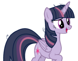 Size: 779x608 | Tagged: alicorn, alternate universe, artist:dusksentryarts123, female, mare, mean twilight sparkle, open mouth, pony, raised hoof, safe, simple background, smiling, solo, the mean 6, transparent background, when she smiles, wrong cutie mark