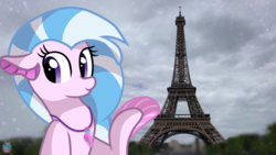 Size: 2560x1440 | Tagged: artist:rainbow eevee, cloud, cloudy, cute, diastreamies, eiffel tower, europe, female, fin, france, irl, jewelry, necklace, paris, photo, ponies in real life, pony, safe, seapony (g4), selfie, silverstream, smiling, solo