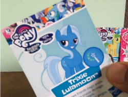 Size: 942x718 | Tagged: bedroom eyes, blind bag, blind bag card, lulamoon syndrome, pony, safe, toy, trixie, wave 25