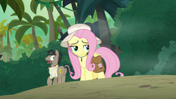 Size: 1920x1080 | Tagged: safe, screencap, doctor caballeron, fluttershy, pony, daring doubt, sassy, sassyshy, sly