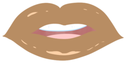 Size: 527x263 | Tagged: safe, artist:lazerblues, oc, oc:mal, satyr, lips, offspring, parent:oc:nyx