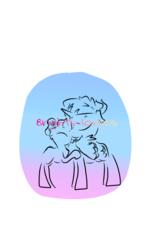 Size: 720x1208 | Tagged: safe, artist:gine_zatr, blue bobbin, sunburst, pony, blueburst, female, male, shipping, straight