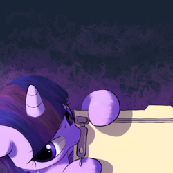 Size: 1920x1920 | Tagged: safe, artist:vultraz, twilight sparkle, alicorn, pony, drool, file, horn, sweat, zipper