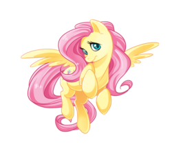 Size: 999x902   Tagged: artist needed, source needed, safe, fluttershy, pegasus, pony, female, looking at you, mare, simple background, solo, spread wings, transparent background, white outline, wings