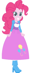 Size: 182x421 | Tagged: artist:ladyfayetale, clothes, equestria girls, fantasy, long skirt, pinkie pie, safe, skirt, solo
