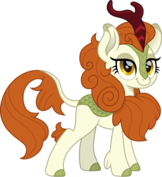 Size: 1500x1642 | Tagged: artist:cloudyglow, autumn blaze, awwtumn blaze, cute, female, kirin, looking at you, movie accurate, safe, simple background, smiling, solo, sounds of silence, transparent background