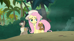 Size: 1920x1080 | Tagged: safe, screencap, doctor caballeron, fluttershy, pony, daring doubt, badass, cute, dreamworks face, flutterbadass, shyabetes