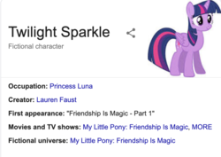 Size: 912x646 | Tagged: alicorn, female, implied princess luna, mare, pony, safe, text, twilight sparkle, twilight sparkle (alicorn), wikipedia, you had one job