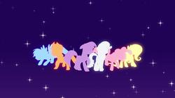Size: 1920x1080 | Tagged: safe, screencap, applejack, fluttershy, pinkie pie, rainbow dash, rarity, twilight sparkle, earth pony, pegasus, pony, unicorn, equestria girls, equestria girls (movie), intro, mane six, opening, theme song