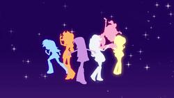Size: 1920x1080 | Tagged: safe, screencap, applejack, fluttershy, pinkie pie, rainbow dash, rarity, twilight sparkle, alicorn, equestria girls, equestria girls (movie), humane five, intro, opening, theme song, twilight sparkle (alicorn)